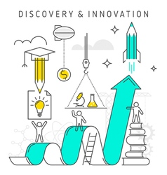 discovery innovation vector image vector image