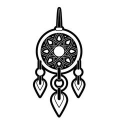 dreamcatcher hanging icon image vector image vector image