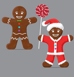gingerbread man set vector image