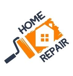 The emblem of home repair vector image