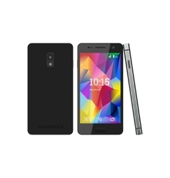 The smartphone with the screen saver vector image