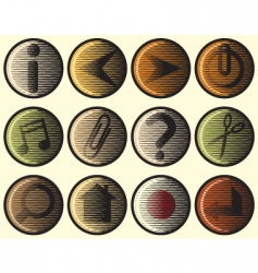 woodcut icons vector image vector image