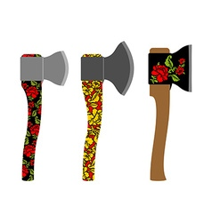 Axe traditional Russian pattern of colors - vector image vector image