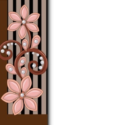 background with floral ornament vector image vector image