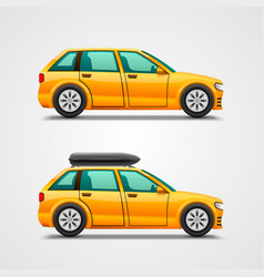 car with the luggage vector image vector image
