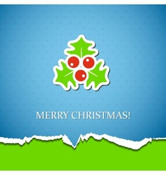 Holiday background with mistletoe vector image vector image