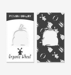 Wheat or flour business cards vector