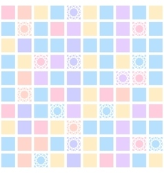 Abstract geometric seamless pattern with colorful vector image vector image