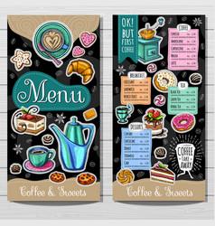 hand drawn menu vector image