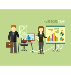 Investors Team People Group Flat Style vector image