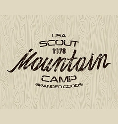 Mountain scout emblem for t shirt vector image vector image