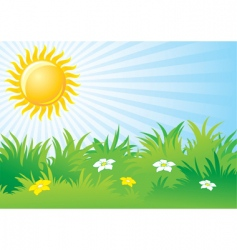 sunny day background vector image