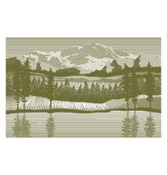 Woodcut Wilderness vector image