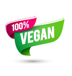 100 percent vegan flag icon vector image