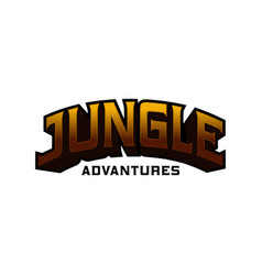 3d jungle adventure writing vector