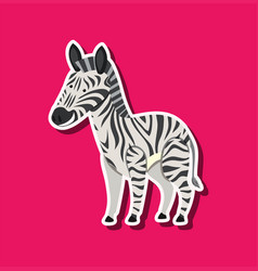 a zebra on pink template vector image