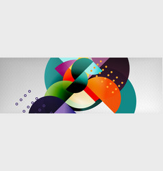 abstract background geometric circle composition vector image