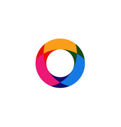 abstract circle overlapping logo icon vector image