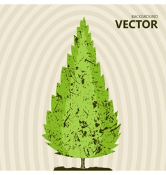abstract color tree background vector image