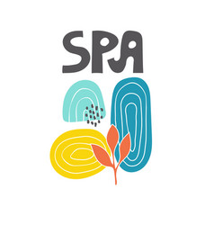 Abstract spa salon background vector