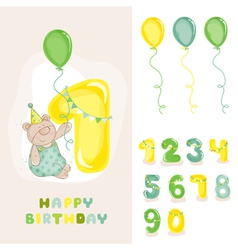 Babear birthday card vector