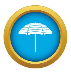 Beach umbrella icon blue isolated vector