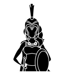 Beautiful woman medieval warrior vector