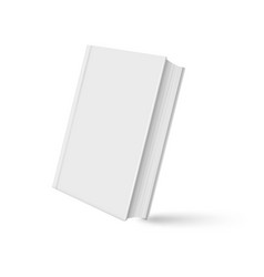 book mockup realistic with shadow on white vector image
