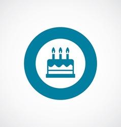 Cake icon bold blue circle border vector
