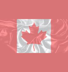 Canadian silk flag vector