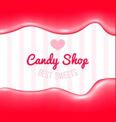 candy shop logo vector image