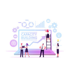 capacity building concept team business people vector image