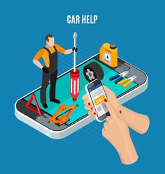 Car help concept vector