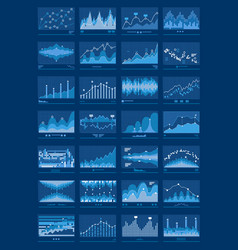 charts blue mobile background vector image