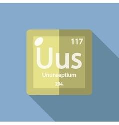 Chemical element Ununseptium Flat vector