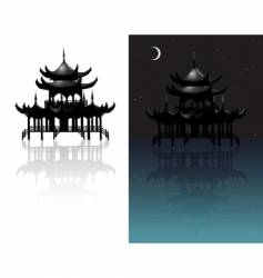 chinese temple vector image