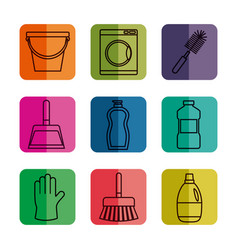 cleaning equipment design vector image