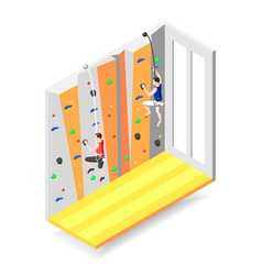 climbing wall isometric design concept vector image
