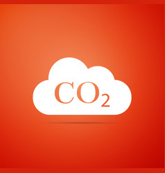 Co2 emissions in cloud icon on orange background vector