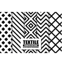 Collection of textile seamless patterns - stylish vector