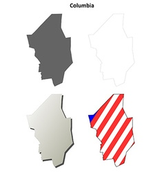 Columbia Map Icon Set vector image vector image