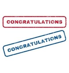 Congratulations rubber stamps vector