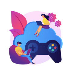 Console gamepad concept metaphor vector