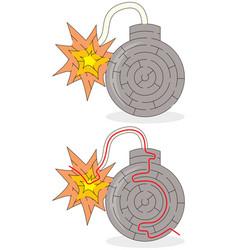 Easy bomb maze vector