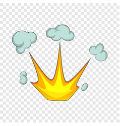Explode effect with smoke icon cartoon style vector