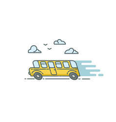 Flat of bus vector
