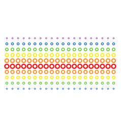 gear shape halftone spectrum array vector image