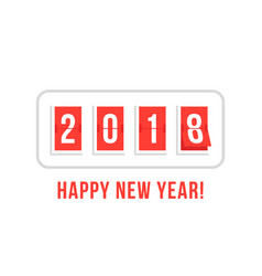happy new year with 2018 scoreboard vector image