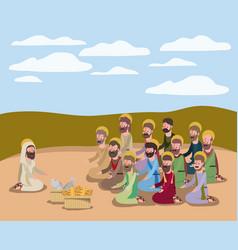 Holy week biblical scene vector
