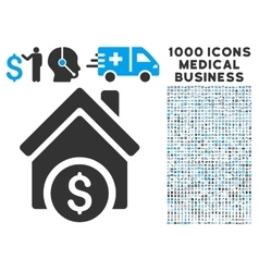 Home Price Icon with 1000 Medical Business Symbols vector image